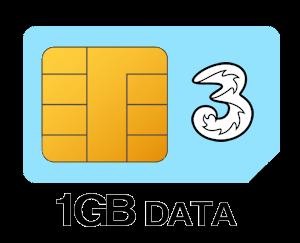Three SIM Only 1GB Data
