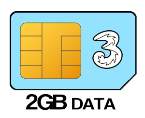 Three SIM Only 2GB Data