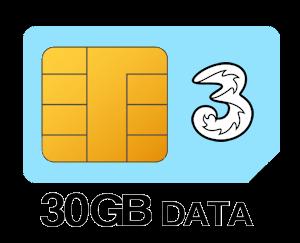 Three SIM Only 30GB Data