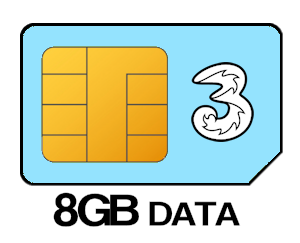 8GB Three SIM Deal