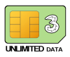 Three SIM Only Unlimited Data