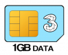 1GB 12 month SIM Only