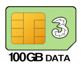 100GB 24 month SIM Only – £18.00 p/m