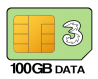 100GB SIM Only – 24 month contract, £18.00 p/m