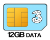 12GB 12 month SIM Only – £12.00 p/m