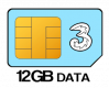 12GB 12 month SIM Only