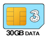 30GB 12 month SIM Only – £15.00 p/m