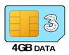 4GB 24 month SIM Only – £6.00 p/m