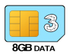 8GB 12 month SIM Only – £8.00 p/m